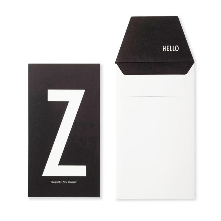Design Letters - AJ Postcard Z
