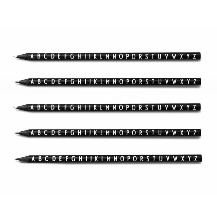 Design Letters - AJ Pencils, black (set of 5)