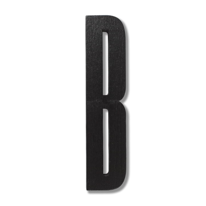 Wooden Letters Indoor B by Design Letters in Black