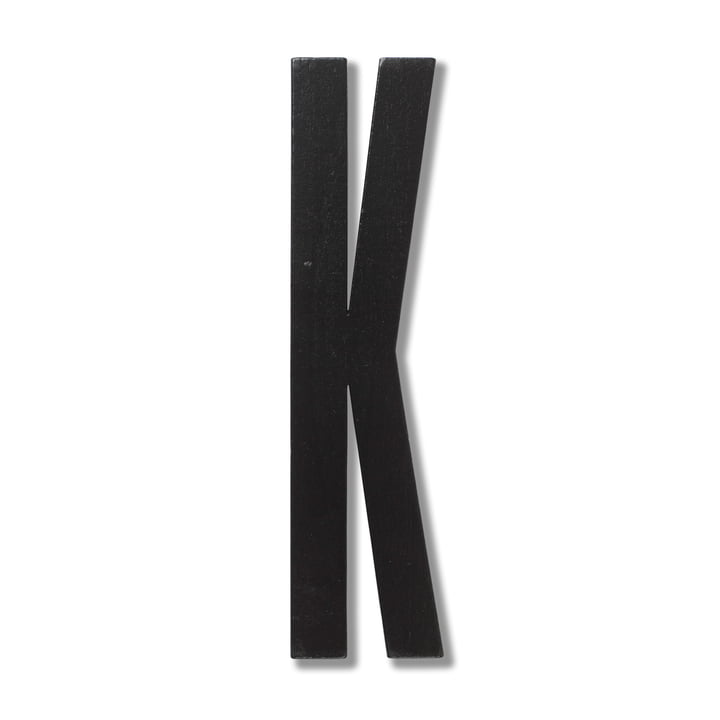 Wooden Letters Indoor K by Design Letters in Black