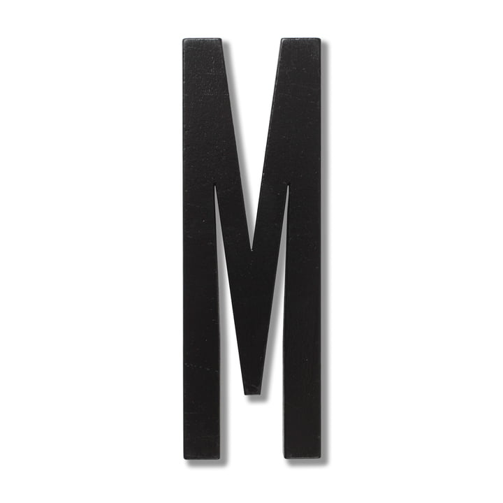 Wooden Letters Indoor M by Design Letters in Black