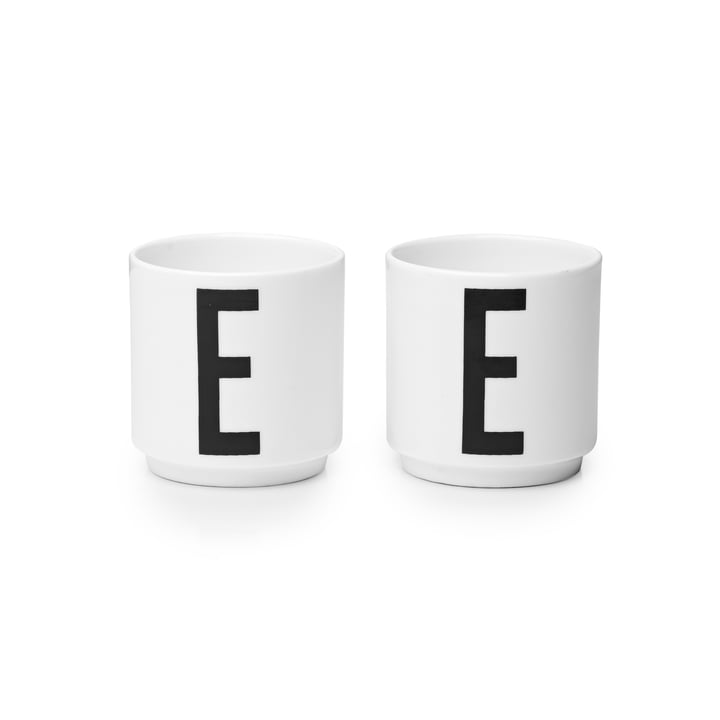 Design Letters - Porcelain Eggcups E (set of 2)