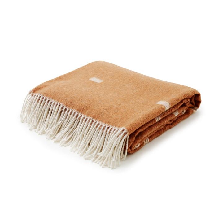 Skagerak - Iota Woollen blanket in Cognac Brown