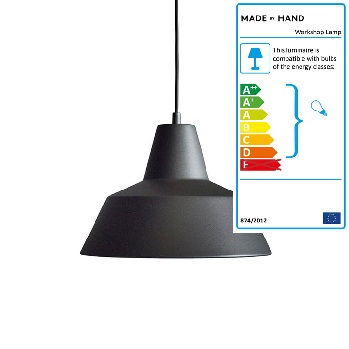 Made by Hand - Workshop Lamp W3 in anthracite black