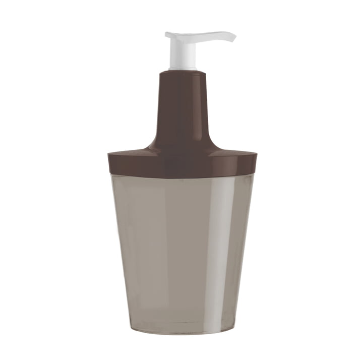 Koziol - Flow soap dispenser, taupe with stone