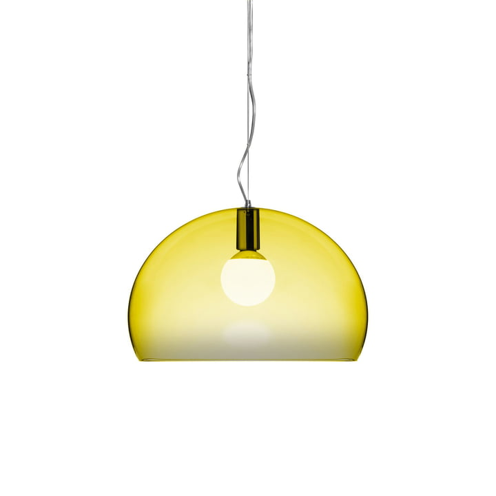 Small FL/Y pendant lamp by Kartell in yellow