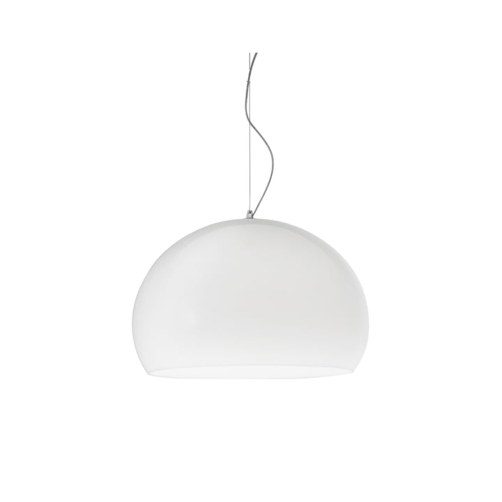 Small FL/Y pendant lamp by Kartell in matte opal white