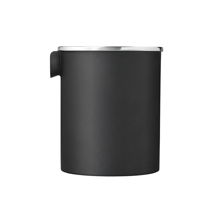 Stelton - EM77 Reverse cream jug in matte black with mirrored lid (special edition)