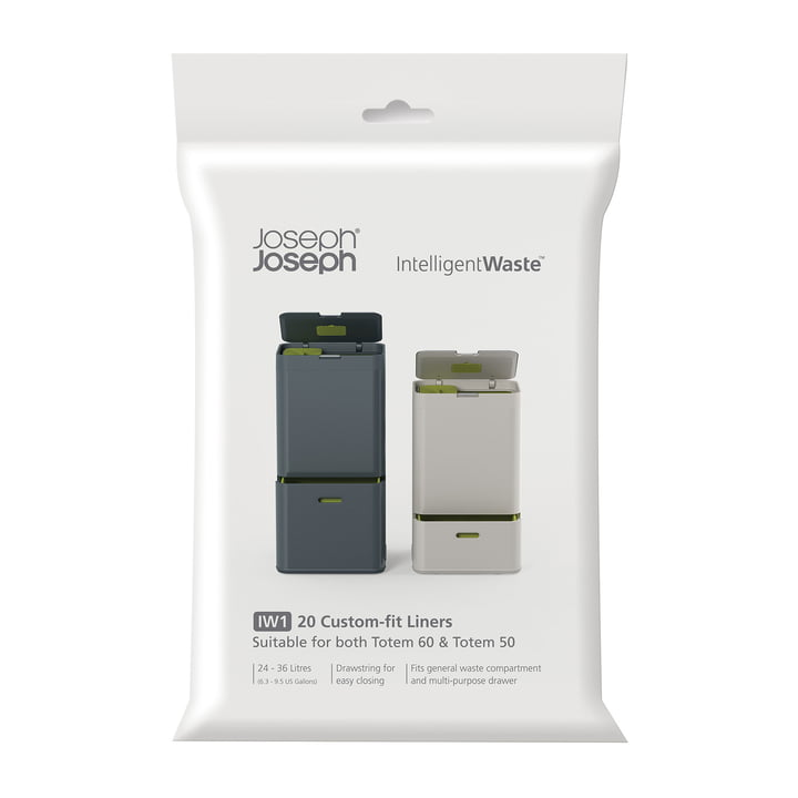 Trash bags for the Totem waste system by Joseph Joseph (20 pieces)