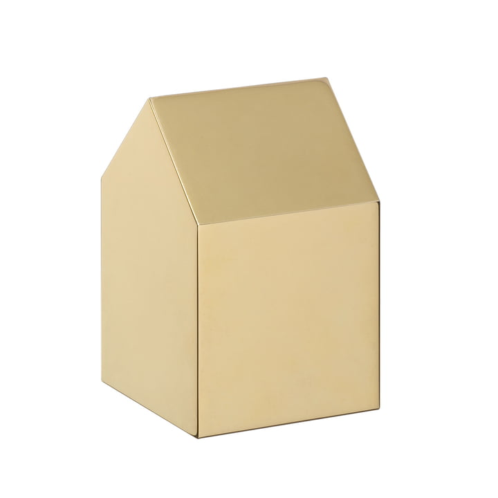 e15 - AC10 House Paperweight Brass with saddle roof