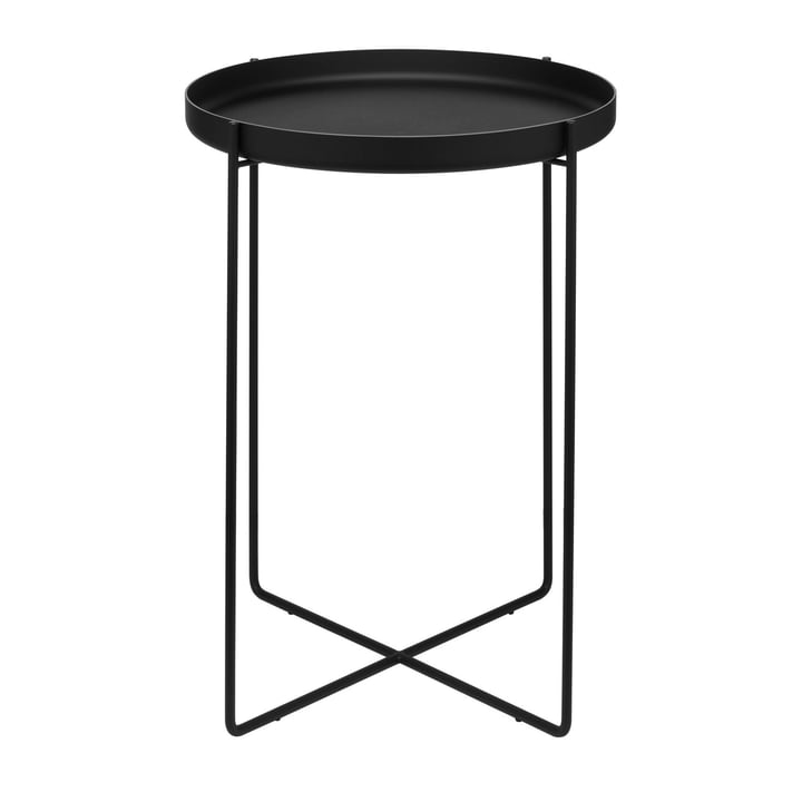 e15 - CM05 Habibi Side Table H 47 Ø 37 cm in jet black