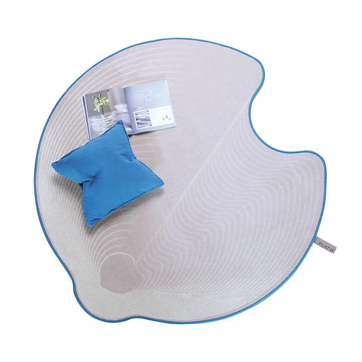 Flat'n - Grooved Circle Carpet 001 (D160cm)