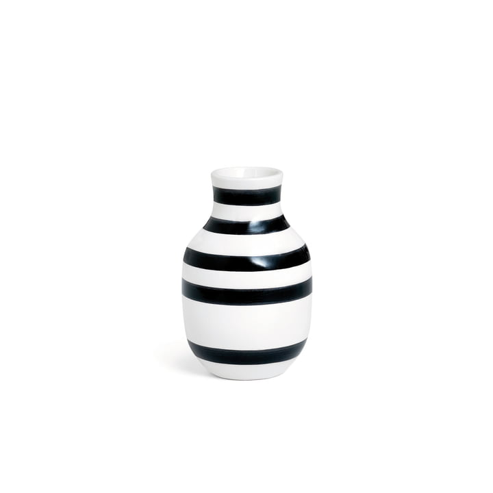 Omaggio Vase H 125 by Kähler Design in Black / White