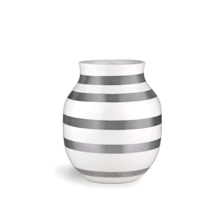 Omaggio Vase H 200 from Kähler Design in silver