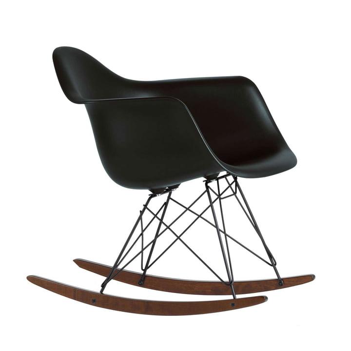 Eames Plastic Armchair RAR by Vitra in black