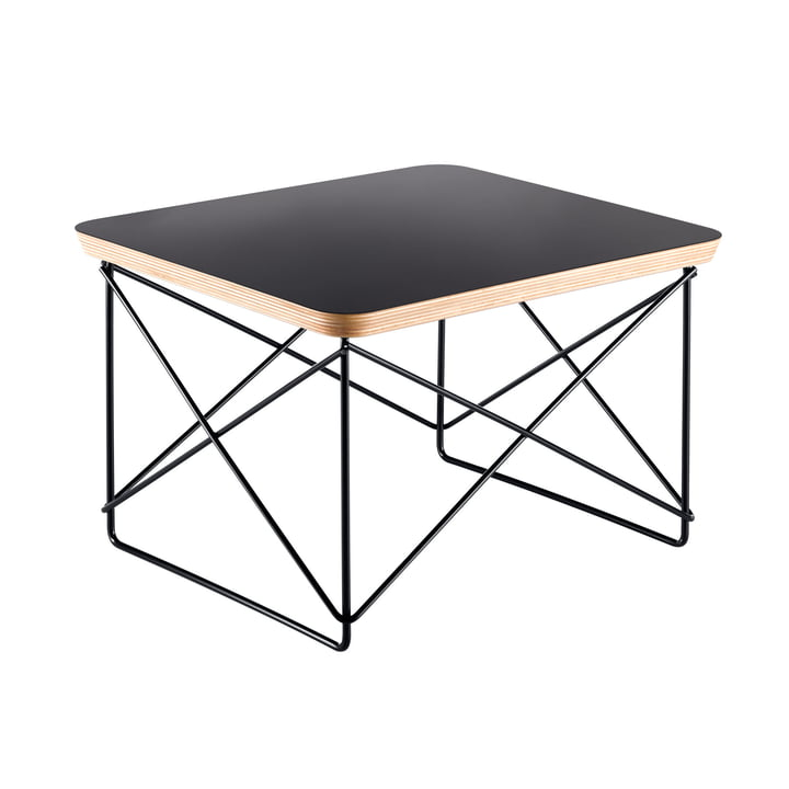 Eames Occasional Table LTR from Vitra in HPL black / basic dark