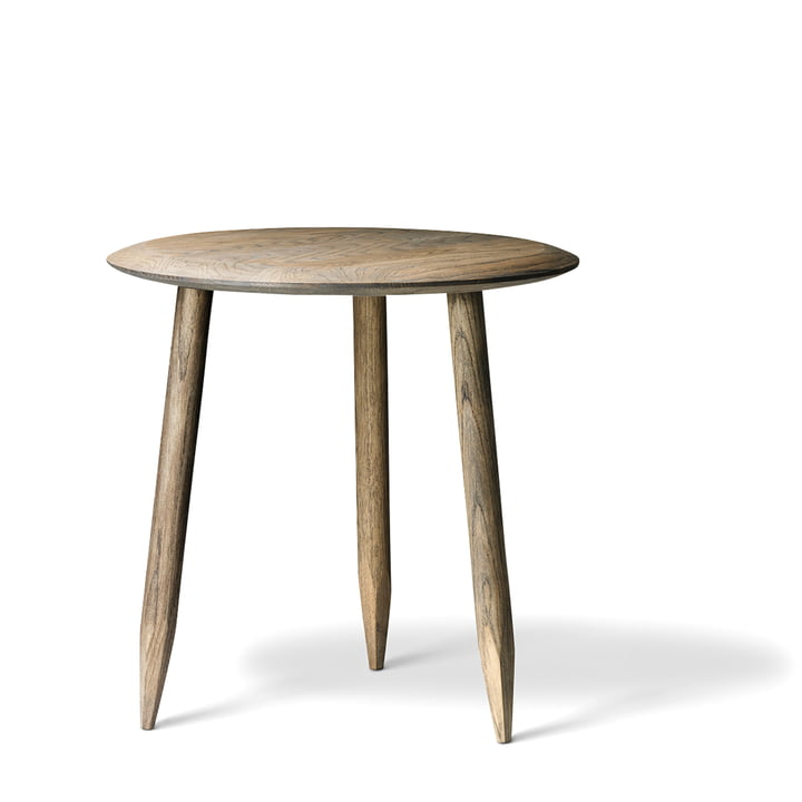 &tradition - Hoof side table SW1, Ø 50 cm, smoked oak wood