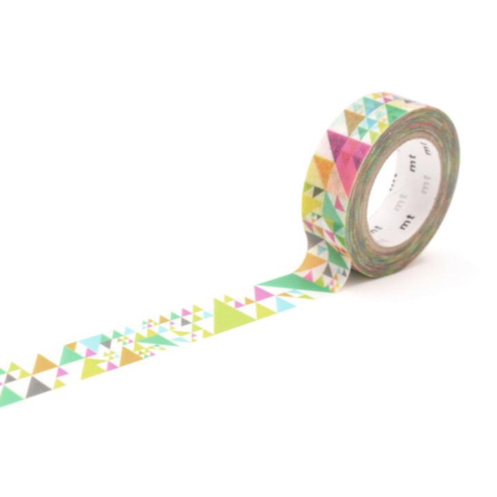 Masking Tape 1P Deko Series Sankaku Pink