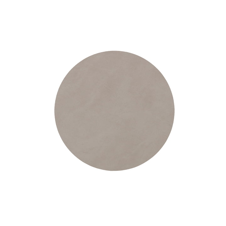 Glass coaster round Ø 10 cm from LindDNA in Nupo light grey