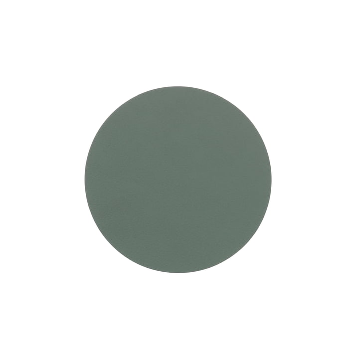 Glass coaster round Ø 10 cm from LindDNA in Nupo pastel green