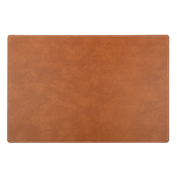 Work Mat Square XXL 54 x 74 cm Made of Bull Natural with White Seams