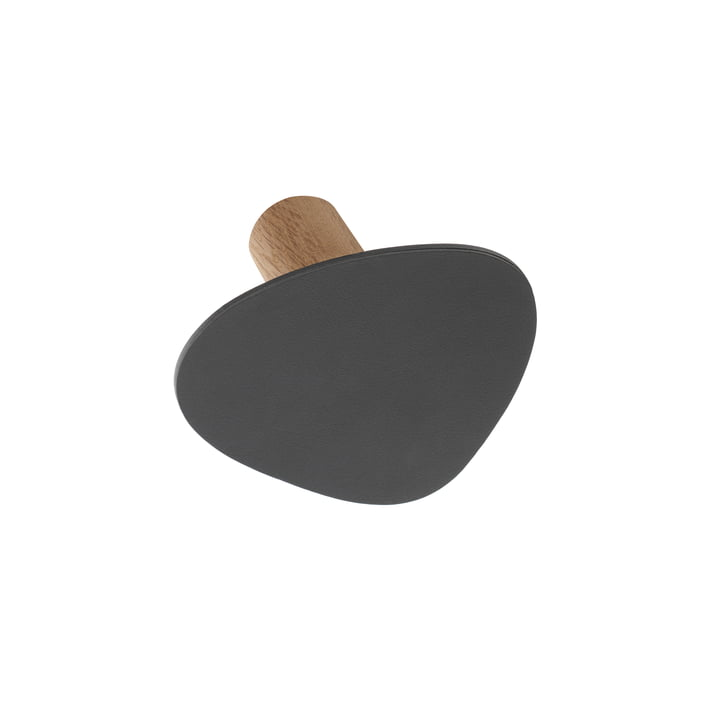 LindDNA - Wall Dots Wall Hooks S in Nupo Anthracite