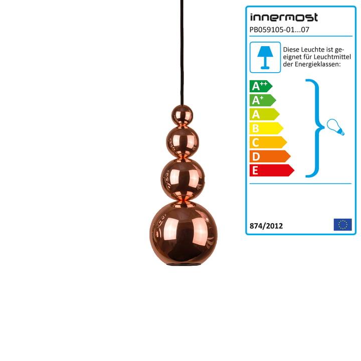 Bubble pendant lamp by Innermost in copper