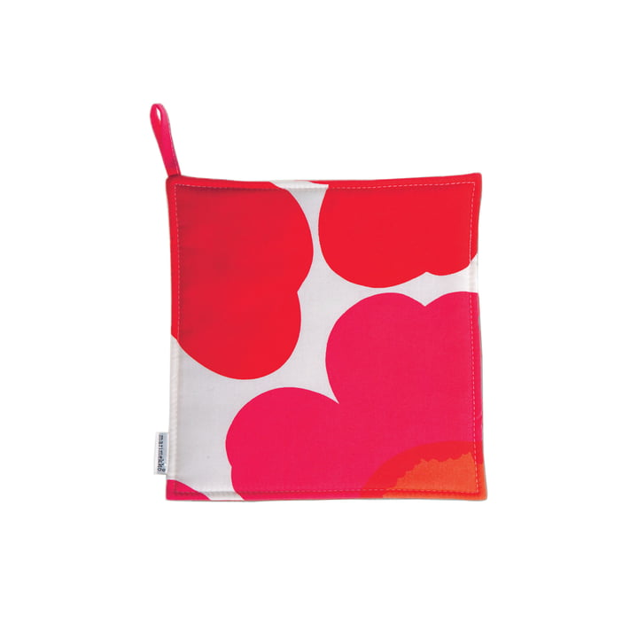 Pieni Unikko Potholder by Marimekko in red