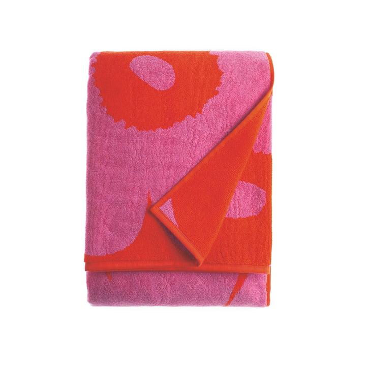 Marimekko - Unikko Bath Towel 75 x 150 cm, red