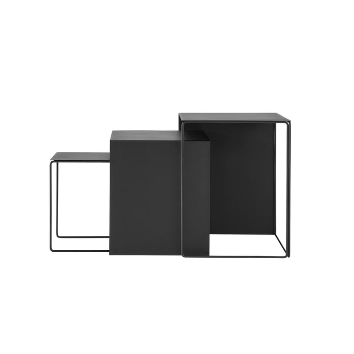 Cluster tables (set of 3) by ferm Living in black