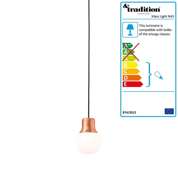 &Tradition - Mass Light NA5 Pendant Light, copper