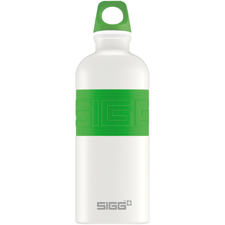 CYD Pure White water bottle from Sigg in green
