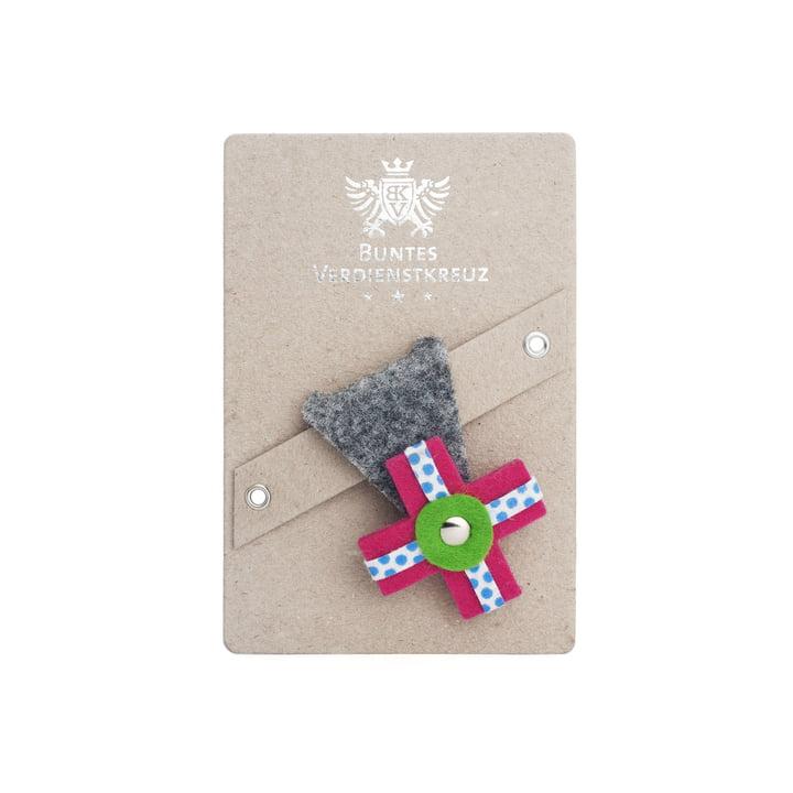 vonbox - Colourful cross of merit, grey / pink
