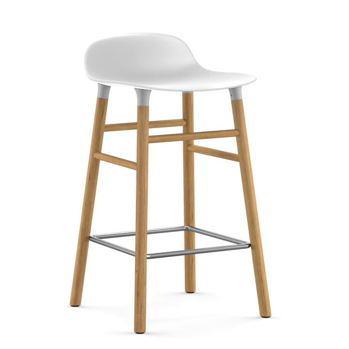 Form table 65 cm by Normann Copenhagen made of oak in white