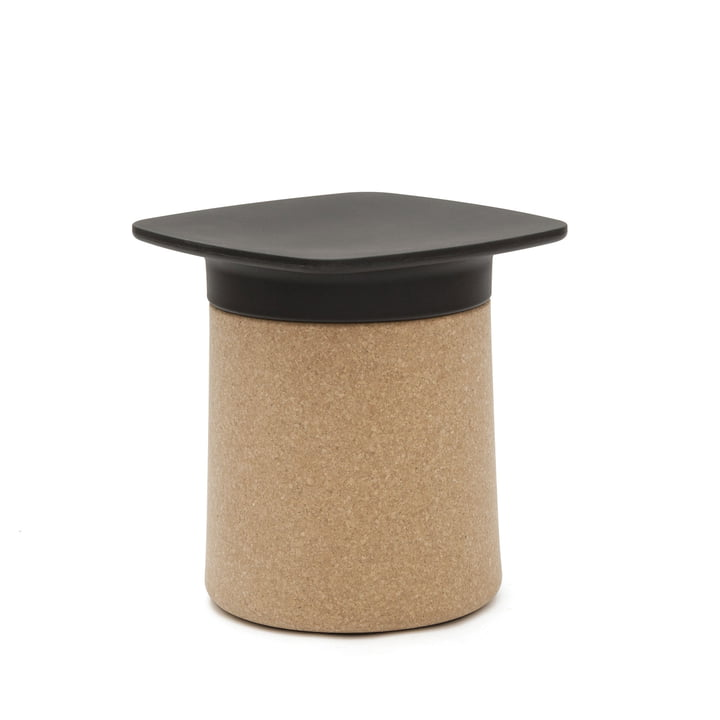 Kristalia - Degree side table in black with cork coating