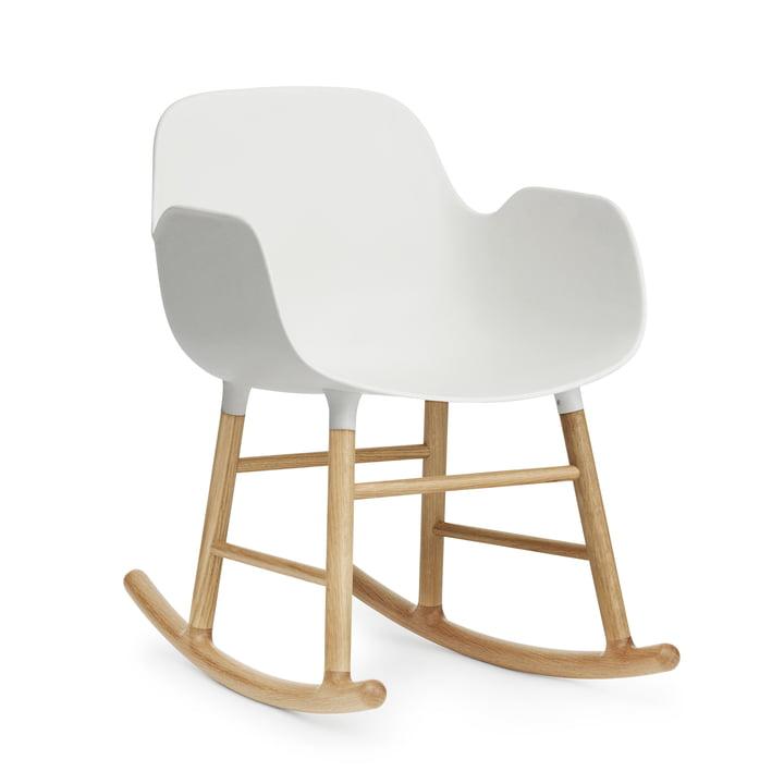 Form rocking armchair by Normann Copenhagen, oak / white