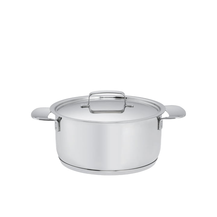 Fiskars - All Steel+ Pot with Lid, 2.5 l / Ø 18cm