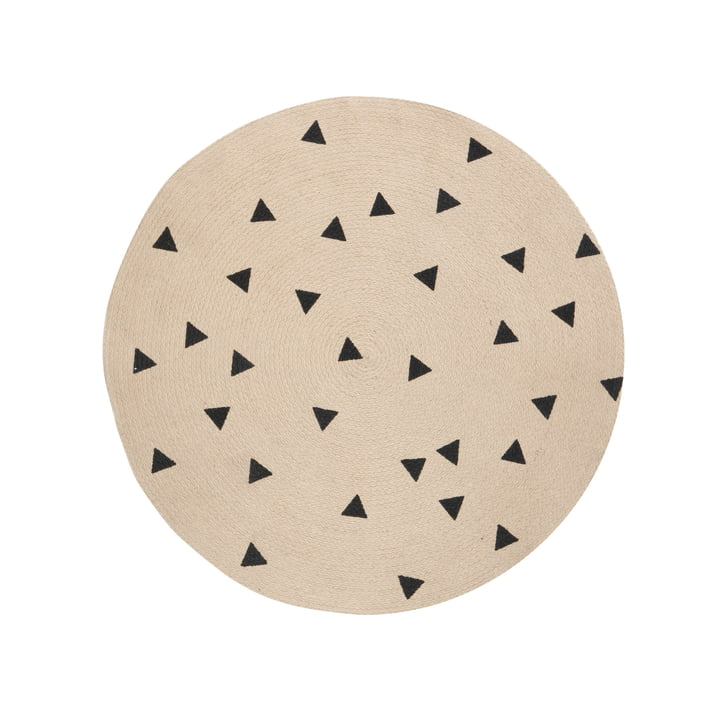 Triangle Jute Rug Ø 100 cm by ferm Living