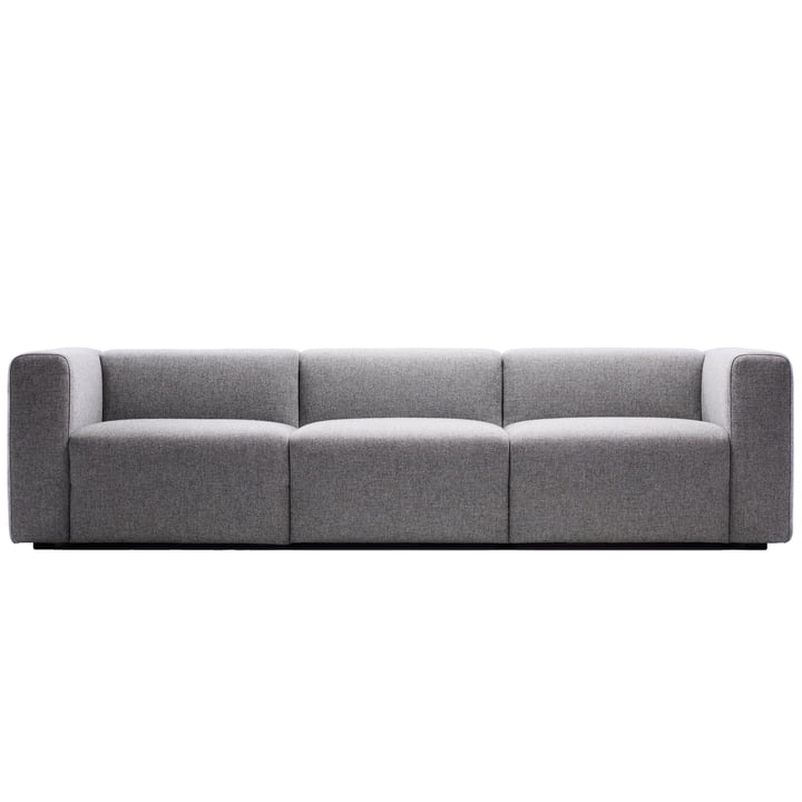 Hay - Mags Sofa, 3-Sitzer, light grey with Hallingdal 153 cover