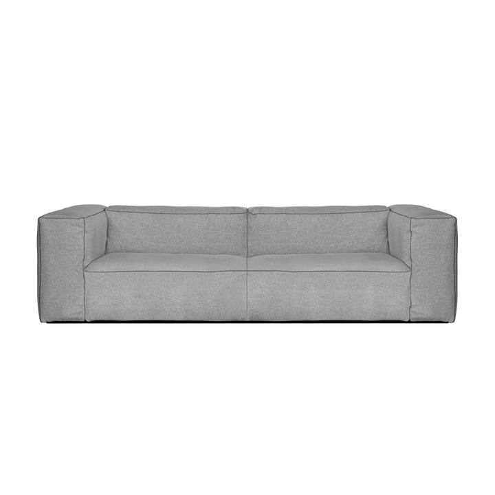 Hay - Mags Soft Sofa 2,5-seater, Combination 1, light grey (Hallingdal 130) / Seams: dark grey