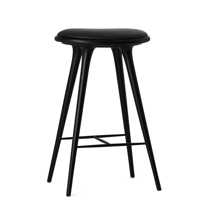 Barstool by Mater made from black stained beech