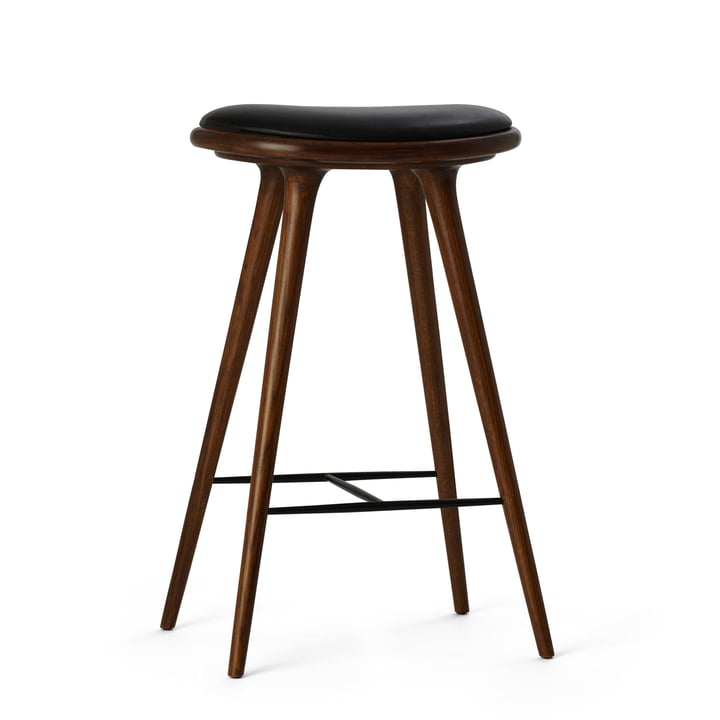 Barstool by Mater made from stained oak