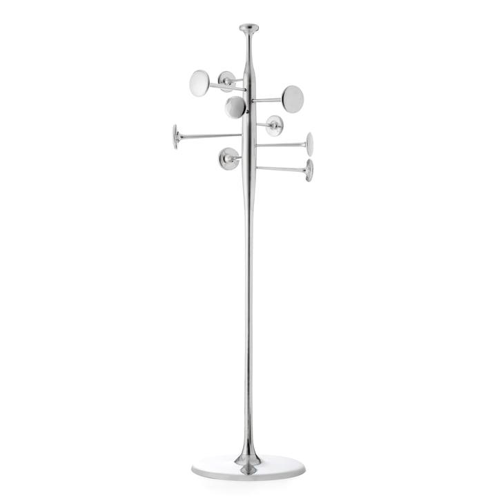 Mater - Trumpet coat stand, aluminium