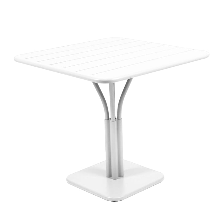 Luxembourg Table 80 x 80cm by Fermob in cotton white