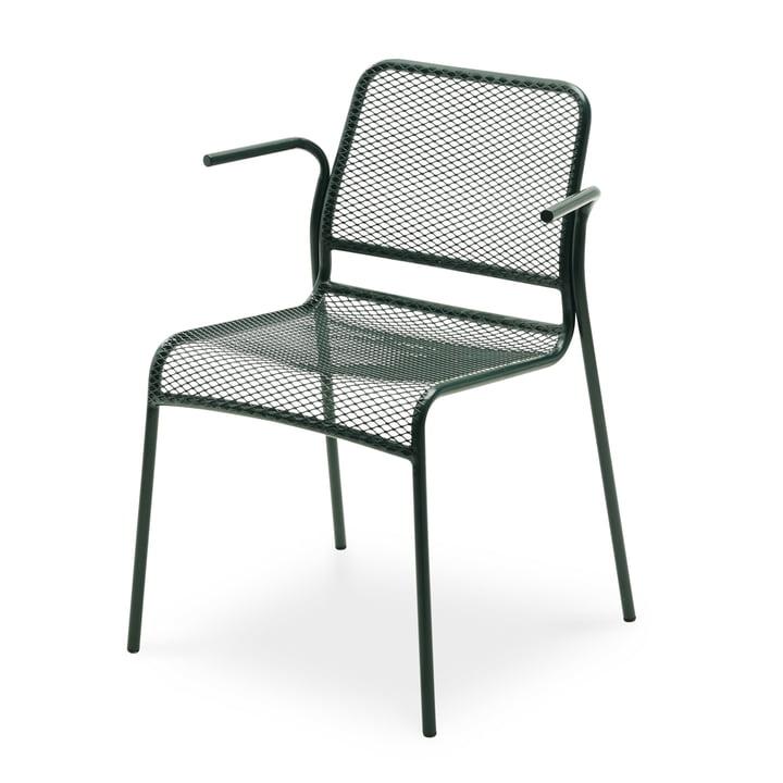 Mira armchair by Skagerak in dark green