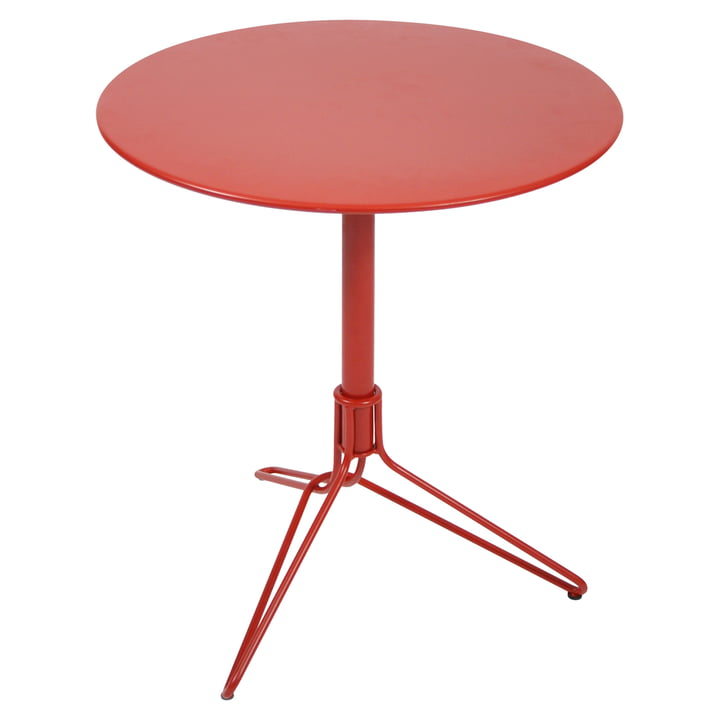 Flower Bistro Table Ø 67cm by Fermob in poppy red