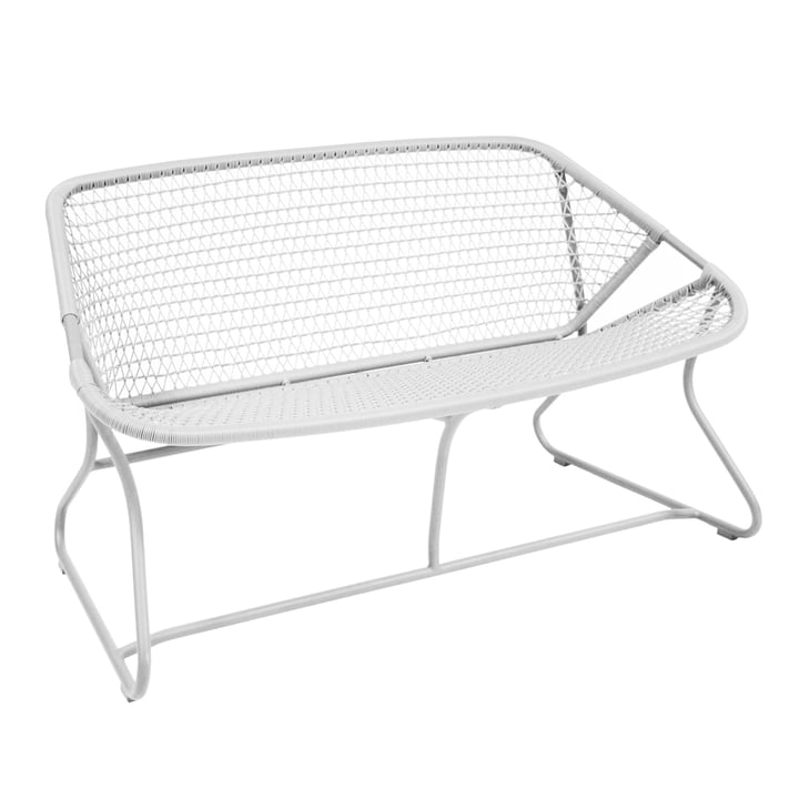 Sixties Bench Fermob in cotton white