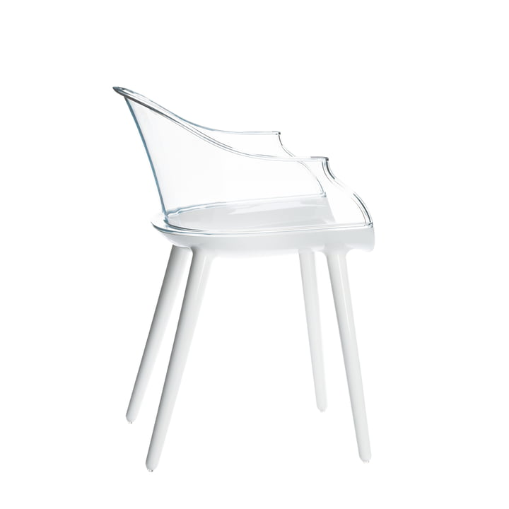 Cyborg chair by Magis in white/transparent
