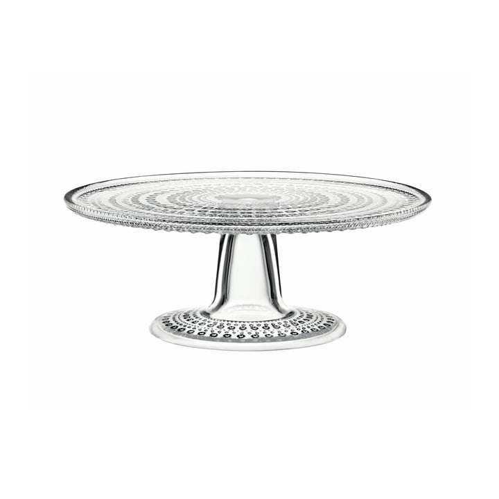 Iittala - Kastehelmi Cake Plate with base 24 cm, transparent