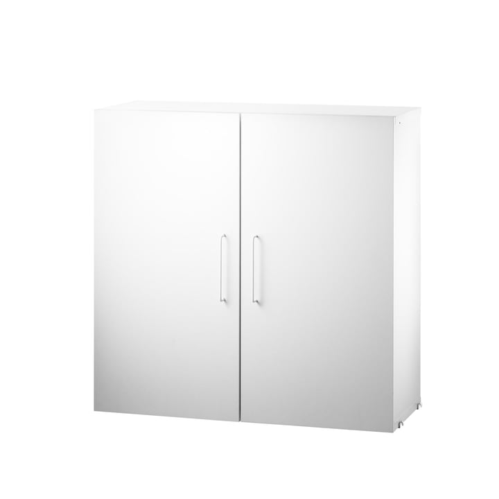 Cabinet module with two shelves from String in white